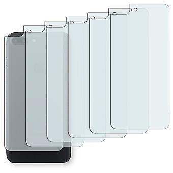 Apple iPhone 7 plus rear screen protector - Golebo Semimatt protector (deliberately smaller than the display, as this is arched)