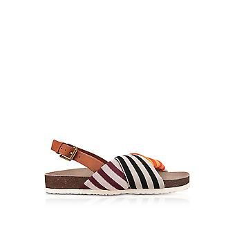 Tory Burch women's 46951987 multicolour polyester sandals