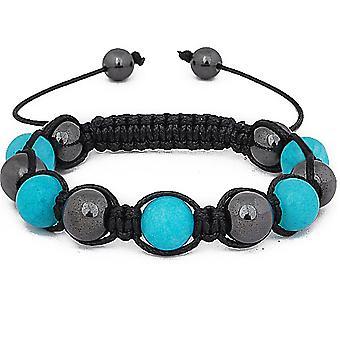 Unisex bling armband - LUX III svart / aqua