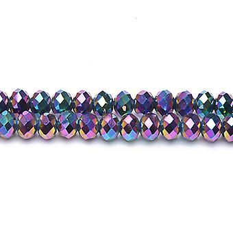 Strand 90+  Rainbow Czech Crystal Glass 3 x 4mm Faceted Rondelle Beads GC12062-1