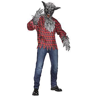 Wilkołak Wolf Man szary wilk Halloween mężczyzn kostium jeden rozmiar
