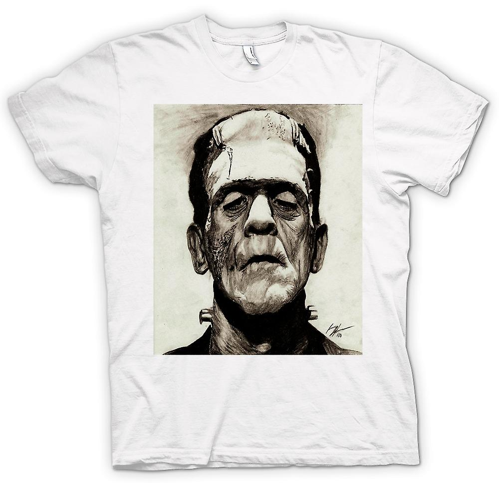 Mens T-shirt - Frankenstein Sketch - Horror