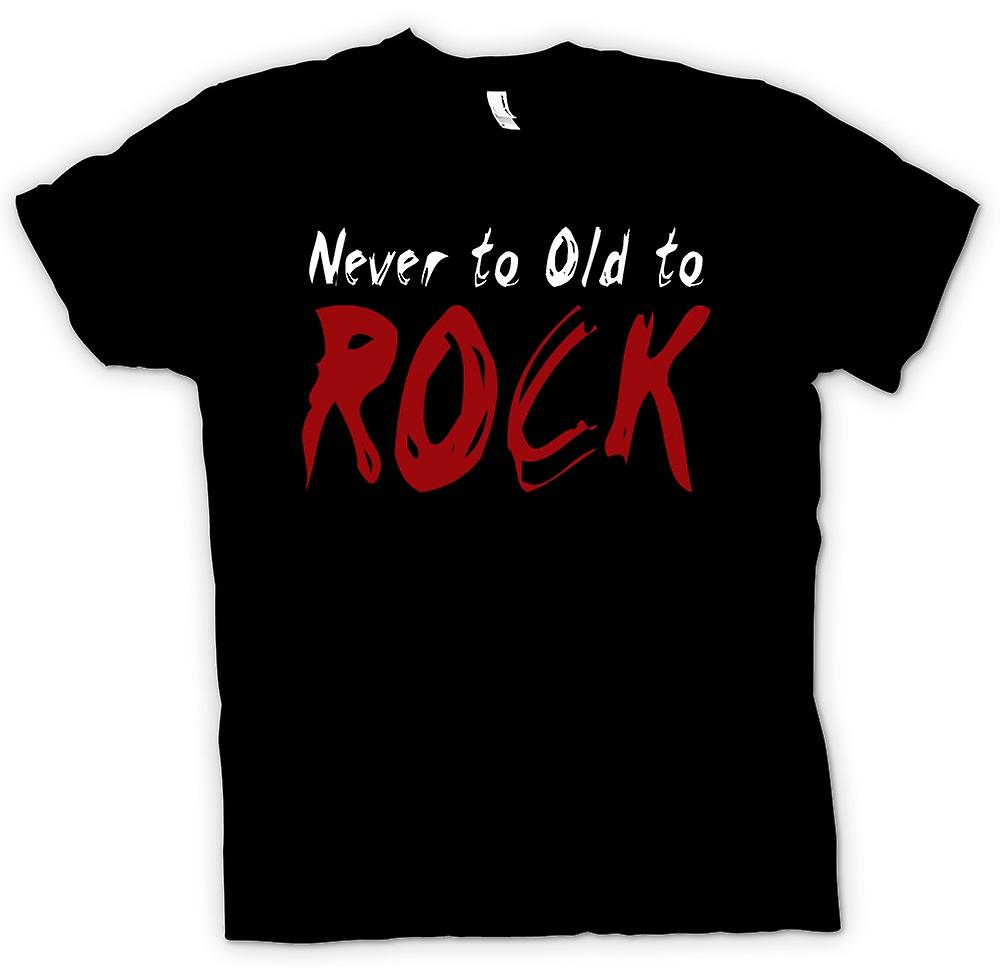 Kids T-shirt - Never Too Old To Rock - Funny