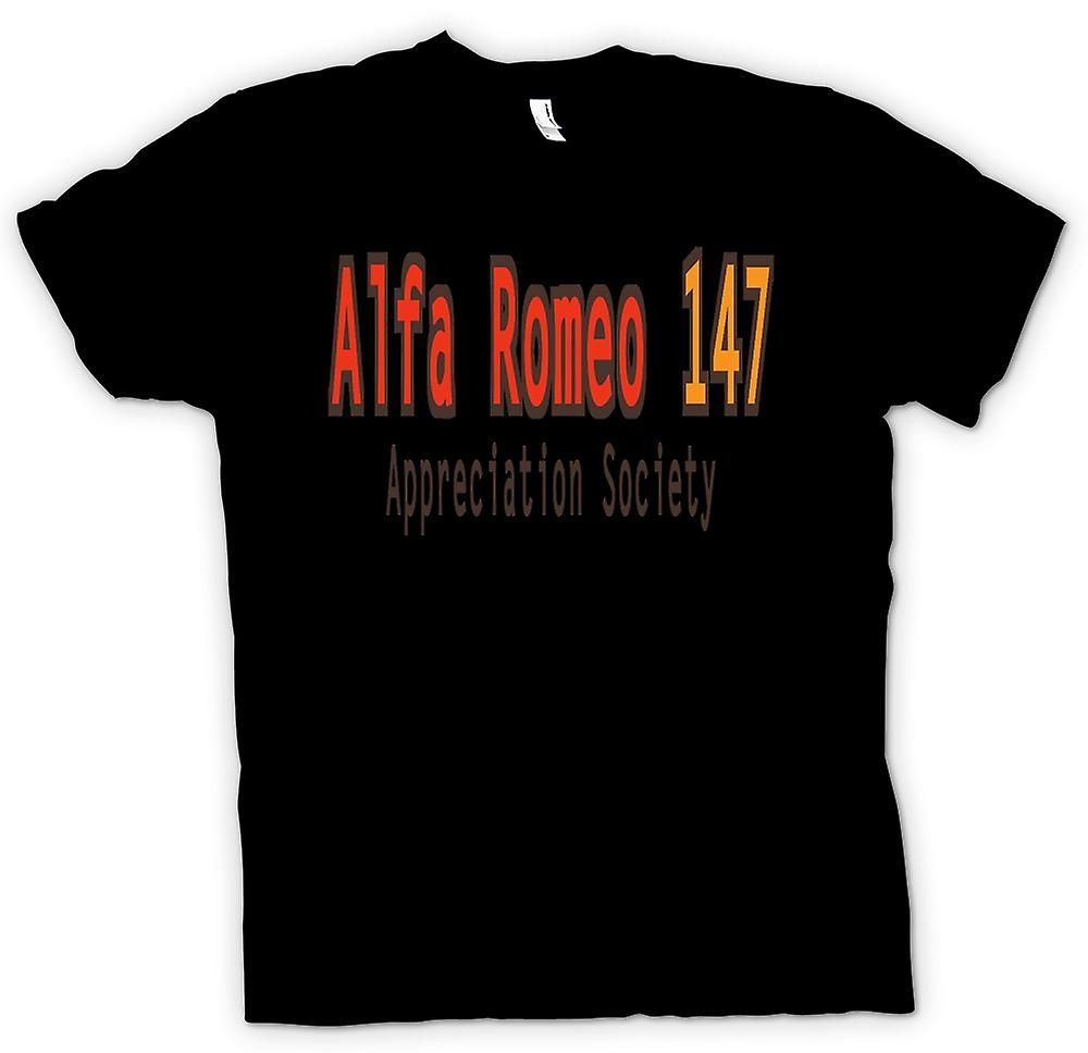 Womens T-shirt - Alfa Romeo 147 Appreciation Society