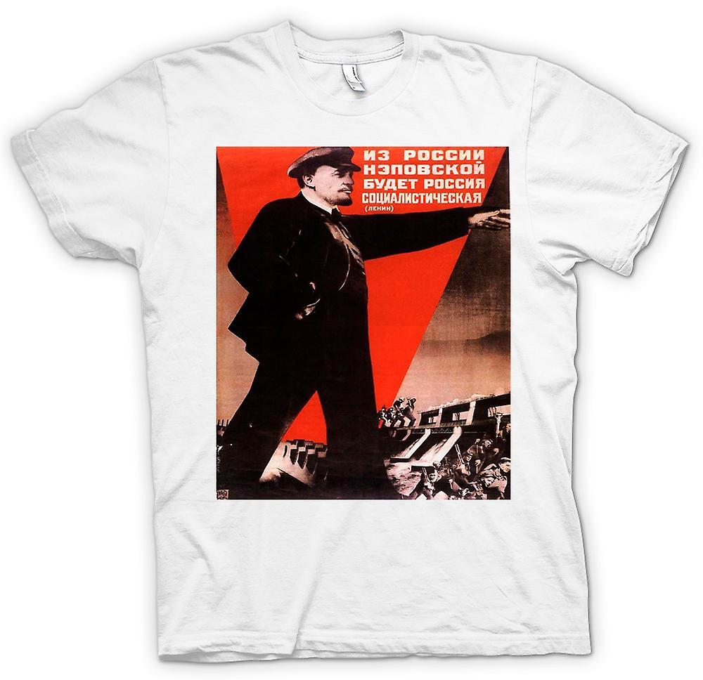 Womens T-shirt - Lenin Russian Propoganda Poster