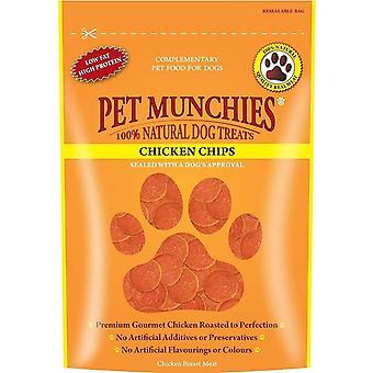 Haustier Munchies Chicken Chips Hund behandeln (100g)