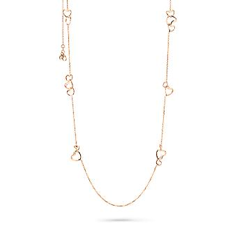 Orphelia Silver 925  Necklace Rose Hearts  ZK-7179/RG