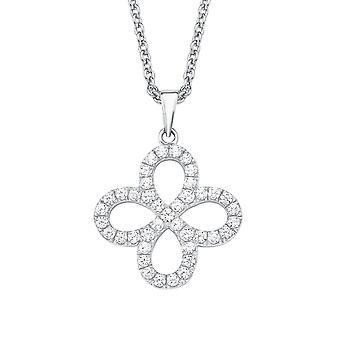 s.Oliver драгоценность дамы ожерелье цепь серебро цветок Zikonia 2015171