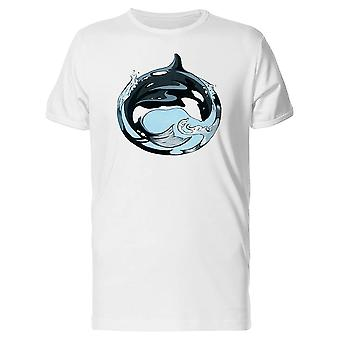 Circular Art Whale Tee Men's -Image by Shutterstock