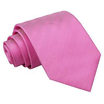 Cravate classique en soie chevrons rose fuchsia