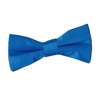 Elektrisk blå ren sateng pre knyttet sløyfe for gutter