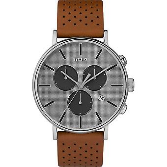 Timex mens watch Fairfield Supernova 41 mm leather bracelet TW2R79900
