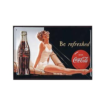 Coca Cola aufgefrischt werden (Badeanzug Ls) geprägte Stahl Zeichen