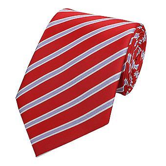 Cravate cravate cravate cravate blanche 8cm rouge pourpre rayé Fabio Farini