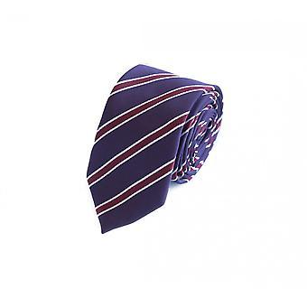 Tie slips slips slips 6cm lilla rosa hvit stripete Fabio Farini