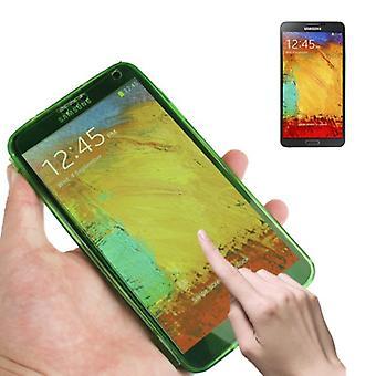 Handyhülle Flip Quer für Handy Samsung Galaxy Note 3 Grün