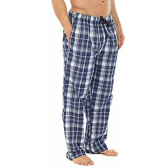 Mens Plaid Check kühlen Polycotton Sommer Pyjama Böden Lounge Wear Hosen