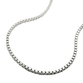 Box chain diamond cut silver 925 38cm
