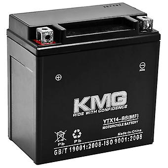 Piaggio 460 X9 2009 YTX14-BS Sealed Maintenace Free Battery High Performance 12V SMF OEM Replacement Maintenance Free Powersport Motorcycle ATV Scooter Snowmobile KMG
