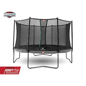 BERG Champion 330 + Safety Net Comfort 330 Trampoline 11ft Grey