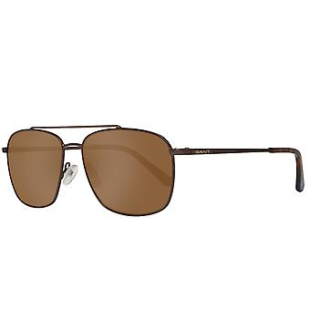 GANT sunglasses mens oval Brown