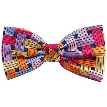 Knightsbridge dassen rechthoeken Silk Bow Tie - meerkleurig
