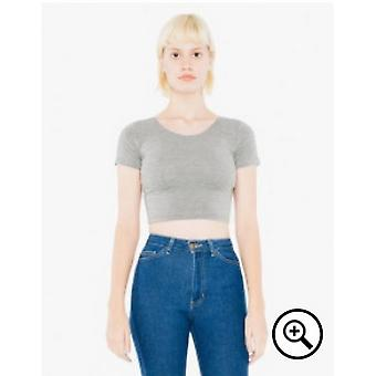 American Apparel Womens/Ladies Spandex Short Sleeve Crop Top