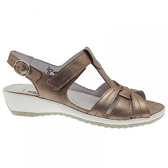 Waldläufer Women's T- Bar Sandal With Velcro Strap