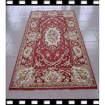 100% Wool Hand Tufted Attractive Red In Color Rug
