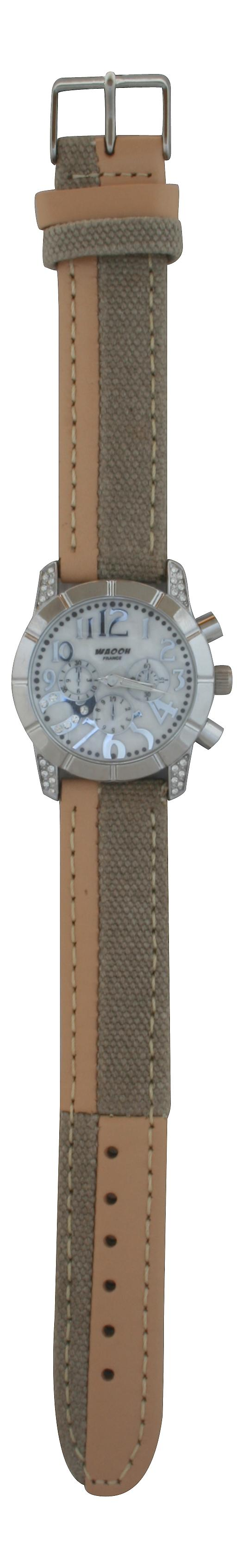 Waooh - Waooh 03873A Beige Leather Strap