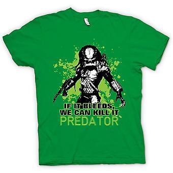 Męskie KOSZULKA-Predator Jeśli krwawi możemy - śmieszne