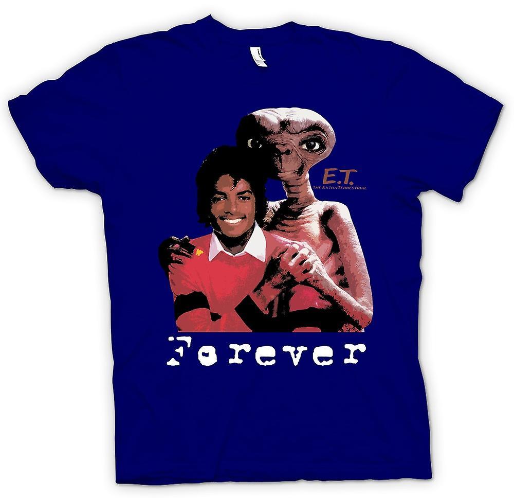 Heren T-shirt-Et Michael Jackson - Forever Alien
