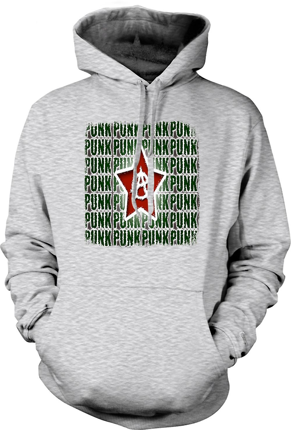 Mens Hoodie - Punk Rock Anarchy - Design