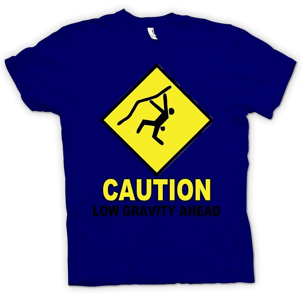 Mens t-shirt-arrampicata bassa gravità avanti - divertente