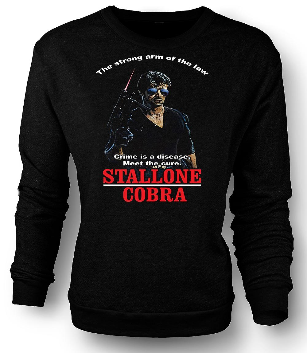Mens Sweatshirt Stallone - Cobra - Crime The Disease