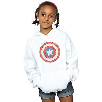 Marvel jenter Captain America skisserte skjold Hettegenser