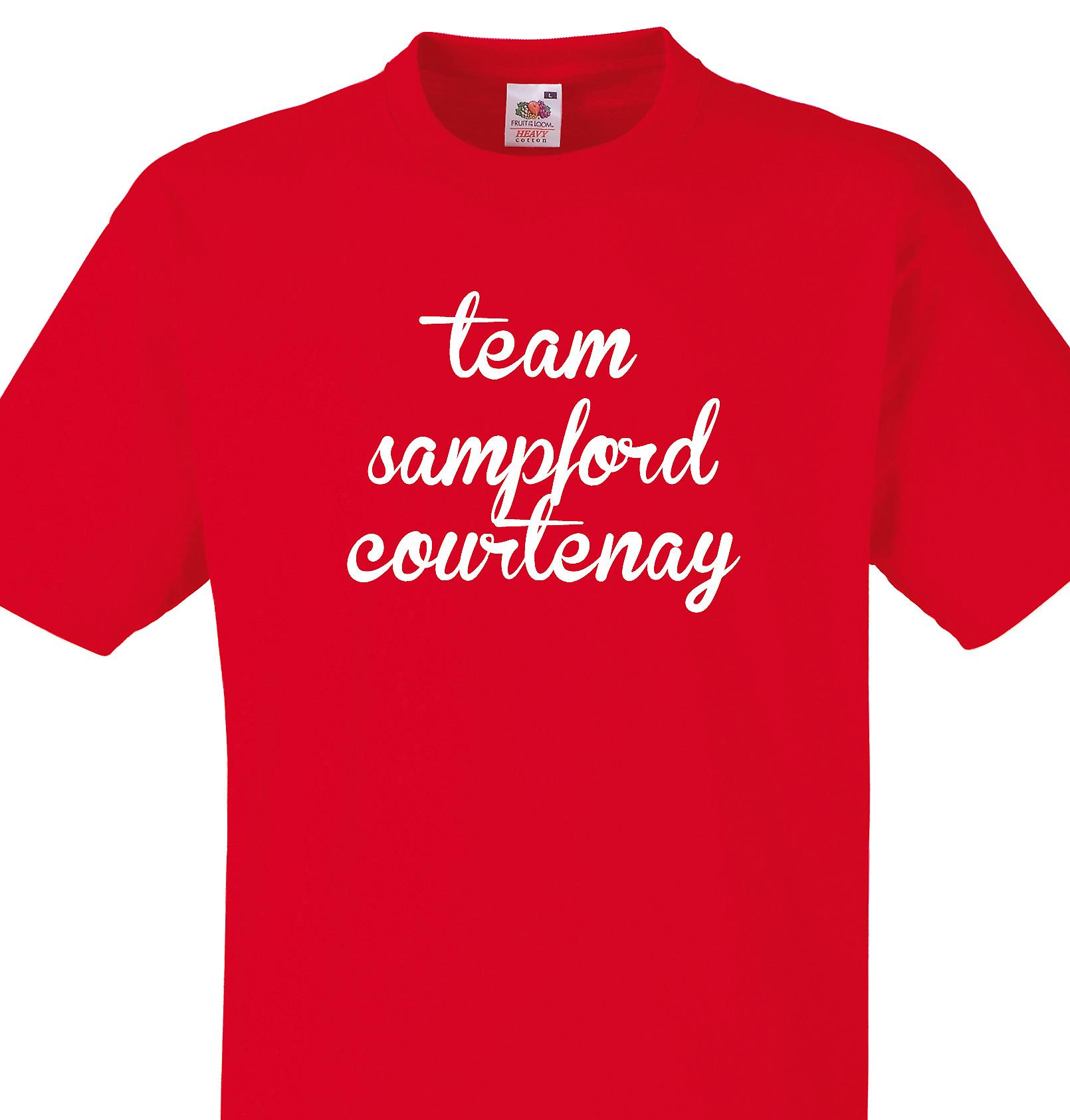 Team Sampford courtenay Red T shirt