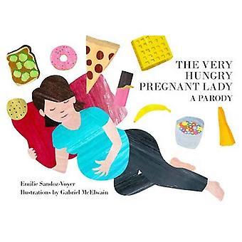 Die sehr hungrig schwangere Frau