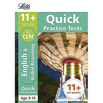 11+ English and Verbal Reasoning Quick Practice Tests Age 9-10 for the CEM tests (Letts 11+ Success) (Letts 11+ Success)