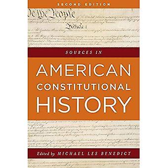Amerikan perustuslaillinen historia-lähteet