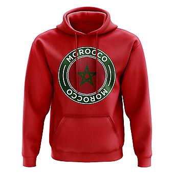 Morocco Football Badge Hoodie (Red)