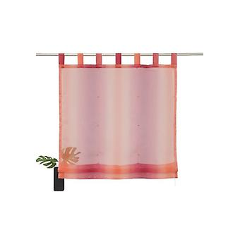 my home curtain semi-transparent Roman shade with tabs Red