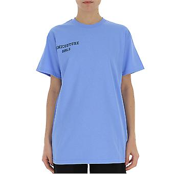 Semi-couture Giulia Light Blue Cotton T-shirt
