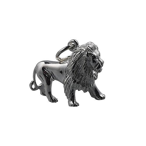 Silver 15x20mm Lion Pendant or Charm