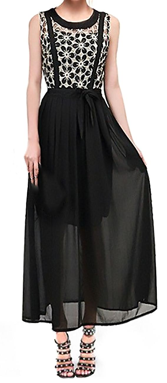 Long sleeveless dress with openworks Tepesh