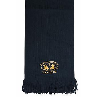 SANTA MONICA-Navy gestrickter Schal mit Quasten