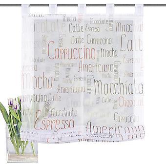 Home Living Dedeen Raffrollo Mocha transparente con bucles H/B 140x60 cm