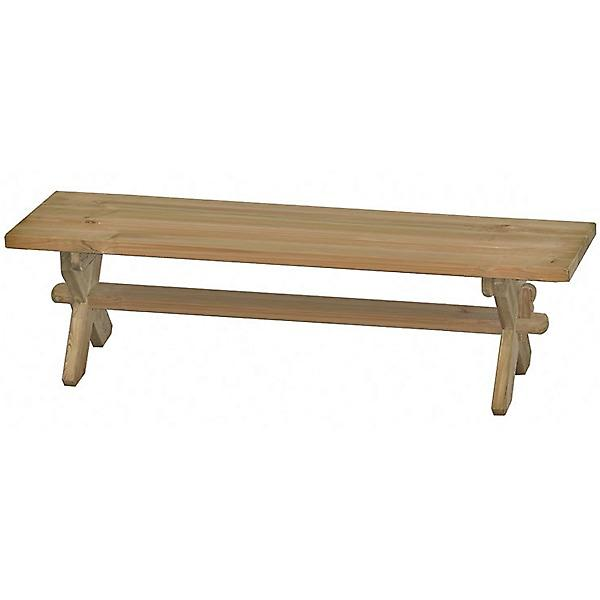 Alexander Rose Pine Farmers 6ft Backless Garden Bench