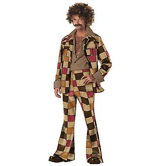 Disco Sleazeball 60s 70s Leisure Suit traje de los hombres