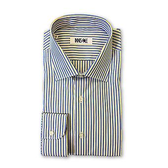 Ingram shirt in white blue and yellow stripes